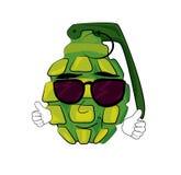 Cool grenade cartoon Stock Photo