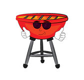Cool grill cartoon Stock Photo