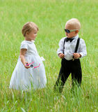 Cool groom and bride Royalty Free Stock Images