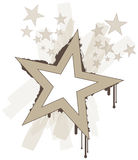 Cool grunge vector stars Stock Image