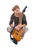 Cool guitarist Stock Images