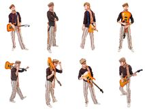 Cool guitarist Royalty Free Stock Image