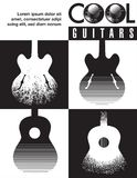 Cool guitars graphic with lots of guitars. Use as guitar event design for flyer, poster, invitation Royalty Free Stock Image