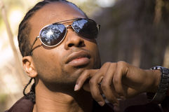 Cool Guy. Young african american male Royalty Free Stock Photography