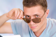 Cool guy with glasses Stock Photography