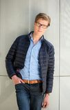 Cool guy with glasses. Portrait of a cool guy with glasses posing outdoors Royalty Free Stock Photos