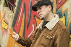 Cool Guy Graffiti Stock Photography