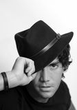 Cool guy with hat Royalty Free Stock Images