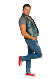 Cool guy in jeans Royalty Free Stock Photos