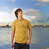 Cool guy looking up Stock Images