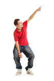 Cool guy pointing at something Stock Images