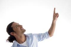 cool guy pointing upwards young Στοκ φωτογραφία με δικαίωμα ελεύθερης χρήσης