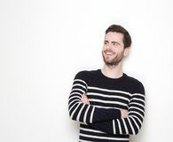 Cool guy smiling with arms crossed Stock Photos