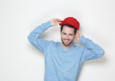 Cool guy smiling with hat Stock Photos