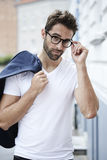 Cool guy in spectacles Royalty Free Stock Photo