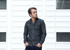 Cool guy standing outside Royalty Free Stock Photo