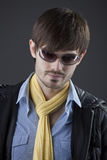 Cool guy in sunglasses Royalty Free Stock Images