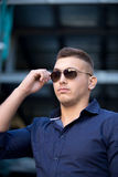 Cool guy with sunglasses stock images