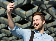 Cool guy taking selfie Royalty Free Stock Photography
