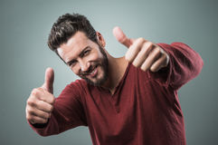Free Cool Guy Thumbs Up Royalty Free Stock Photos - 56605368