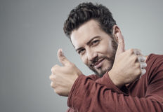 Cool guy thumbs up Royalty Free Stock Photography