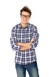 Cool guy wearing glasses Stock Photography