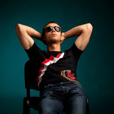 Cool guy wearing sunglasses Stock Photo