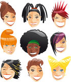 Cool haircut set Royalty Free Stock Images