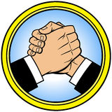 Cool Handshake Icon Royalty Free Stock Photography