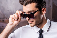 Cool and handsome. Royalty Free Stock Images