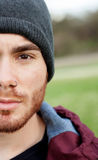 Cool handsome guy with piercing Royalty Free Stock Images