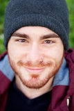 Cool handsome guy with piercing smiling Stock Images