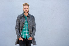 Cool handsome man in jacket Royalty Free Stock Image