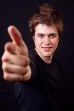 Cool handsome trendy man pointing at you Royalty Free Stock Image