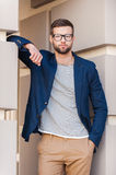 Cool and handsome. Royalty Free Stock Photography