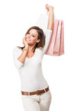 Cool happy shopper. Stock Photography