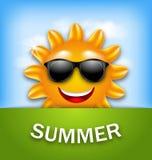 Cool Happy Summer Sun in Sunglasses. Illustration Cool Happy Summer Sun in Sunglasses - Vector Royalty Free Stock Photo