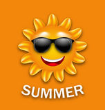 Cool Happy Summer Sun in Sunglasses. Illustration Cool Happy Summer Sun in Sunglasses - Vector Royalty Free Stock Images