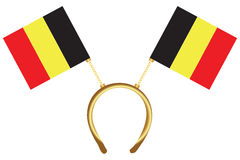 Cool headdress flags Belgium Royalty Free Stock Image