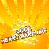 Cool Heartwarming - Comic book style word. vector illustration