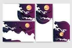 Cool helloween banners for web royalty free illustration