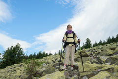 Cool Hiker Teenager Royalty Free Stock Photo