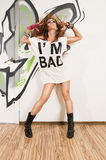 Cool hip-hop dancer Stock Photography