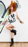 Cool hip-hop dancer Stock Photos