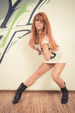 Cool hip-hop dancer Royalty Free Stock Images