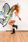Cool hip-hop dancer Royalty Free Stock Photography