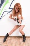 Cool hip-hop dancer Stock Photo
