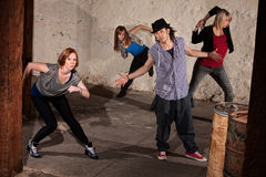 Cool Hip Hop Dancers Royalty Free Stock Image