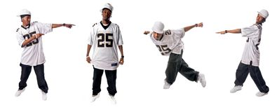 Cool hip-hop dancers Stock Photos