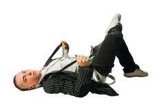 Cool hip-hop young man Royalty Free Stock Images